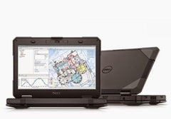 Dell Latitude R5414 Ruggedized Notebook 14 front/ Rear view