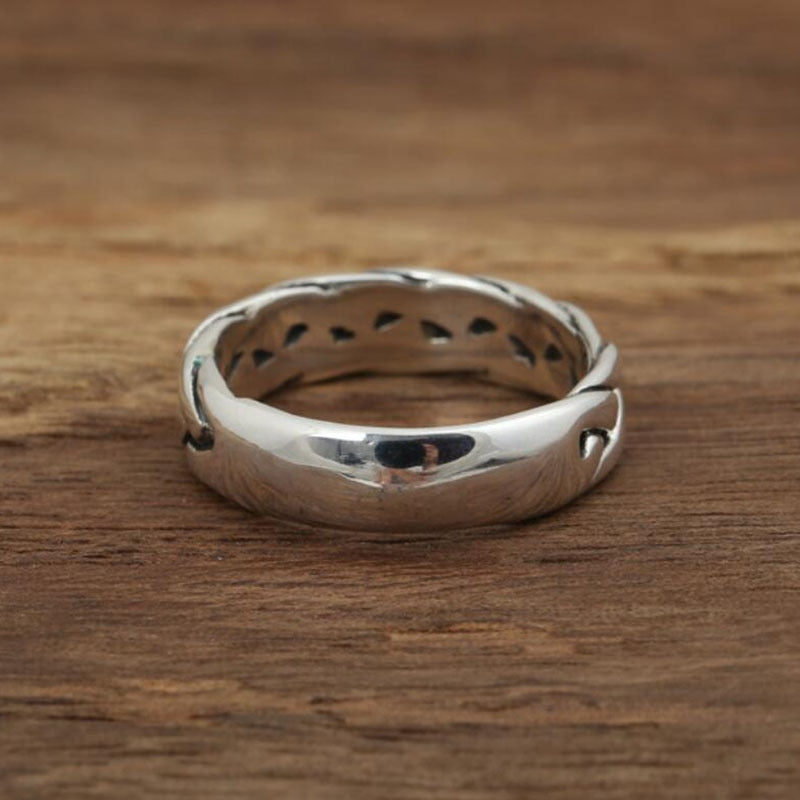 Boho Chic retro Thai silver ring real 925 sterling silver jewelry - BOHOCHIC