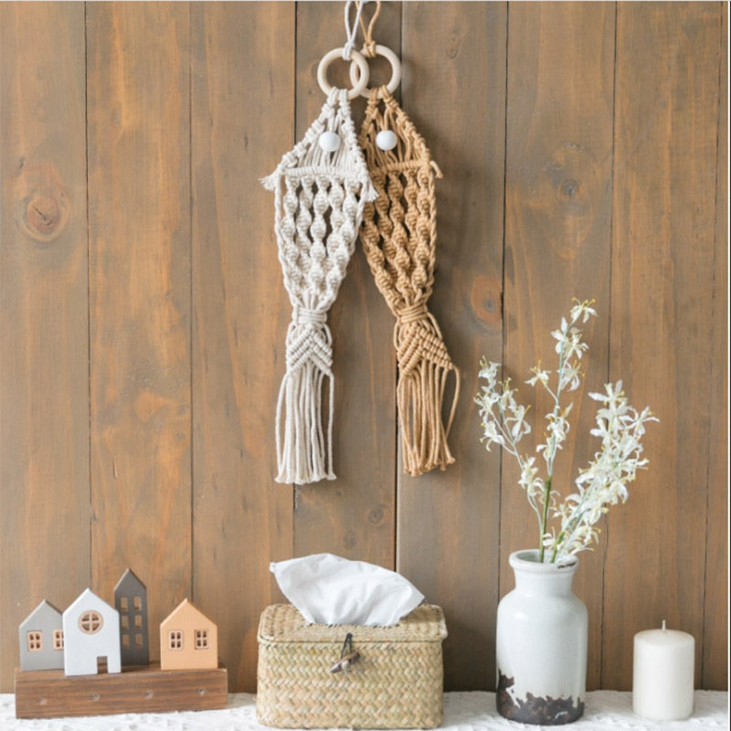 Boho Chic Macrame wall hanging Fish decoration - BOHOCHIC