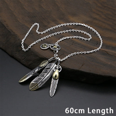 Boho Chic Ethnic Feather Eagle Chain Necklace Pendant 100% Real 925 Sterling Silver - BOHOCHIC