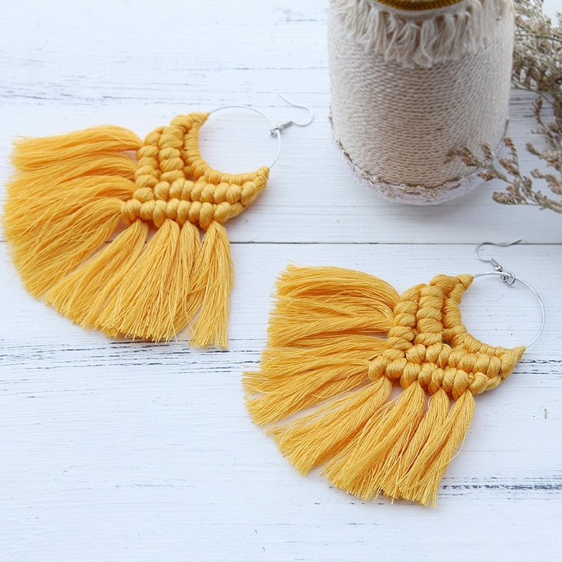Boho Chic Tassel Earrings - BOHOCHIC