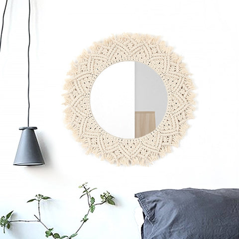 Boho Chic Macrame Wall Hanging Hand-Woven Back Chair Tapestry