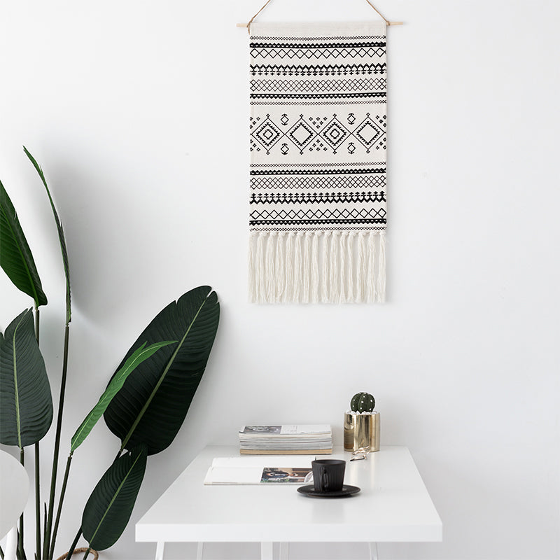 Boho Chic Fringed Tapestry Decoration Hand-woven Fringed - BOHOCHIC