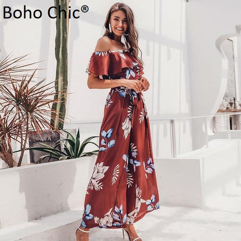 Boho Chic  striped v neck long jumpsuit