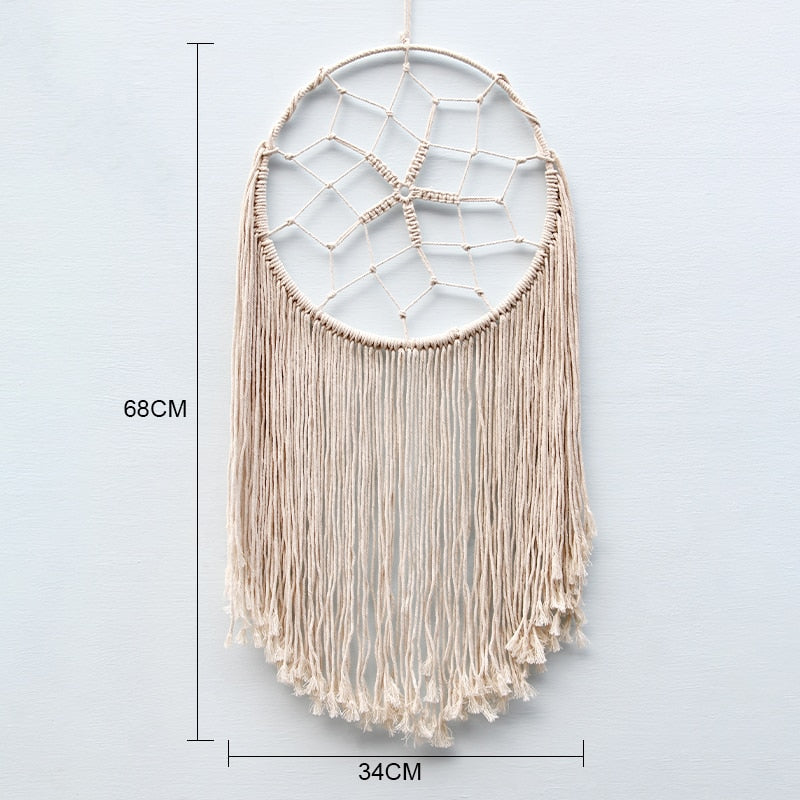 Boho Chic Macrame Tapestry Wall Hanging Decorations Dyed Handcraft Tassel Tapestry - BOHOCHIC