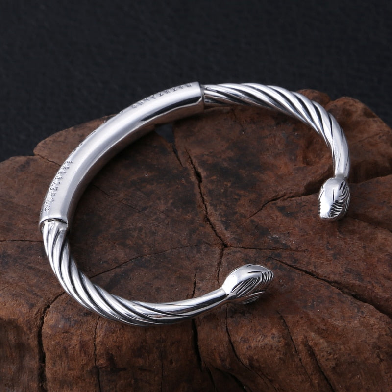 Boho Chic  Bangle 100% S999 sterling silver - BOHOCHIC