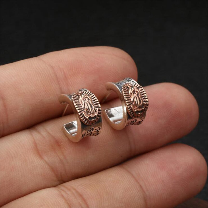 Boho Chic 100% Real 925 Sterling Silver Fine Jewelry  Stud Earring - BOHOCHIC