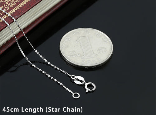 Boho Chic Fashion 1mm Thick Wave Necklace 100% 925 Sterling Silver - BOHOCHIC