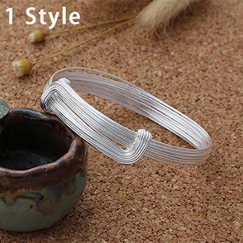 Boho Chic  Weave Bangle 100% 925 sterling silver - BOHOCHIC