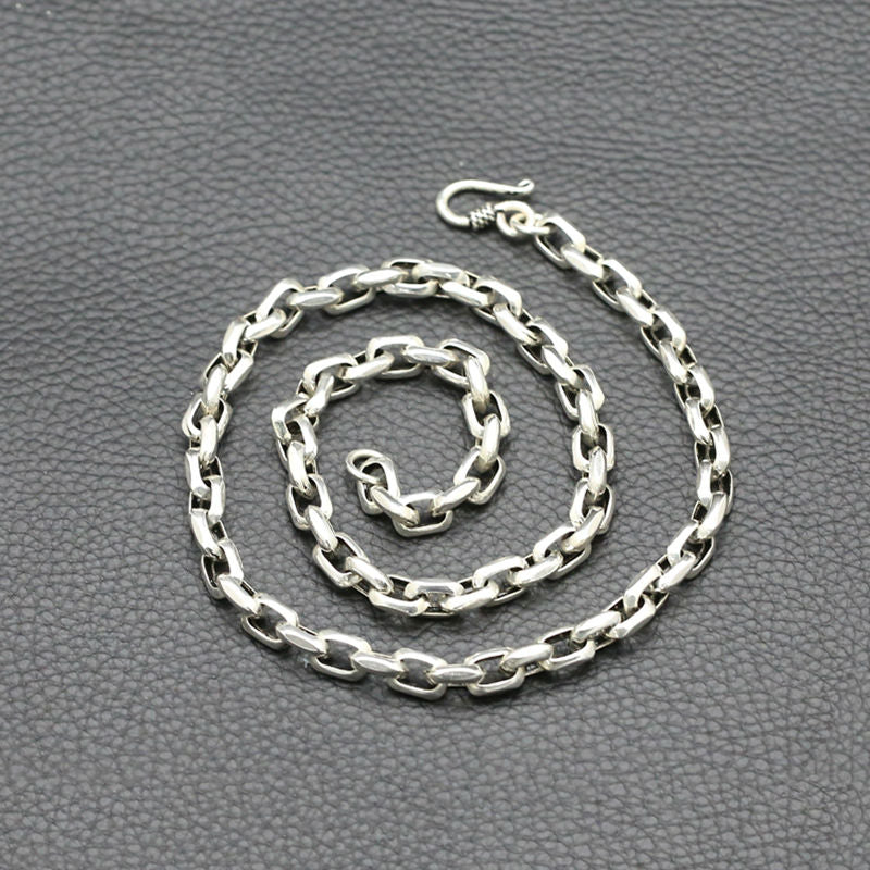 Boho Chic 100% Real 925 sterling silver 8mm Wide chain - BOHOCHIC