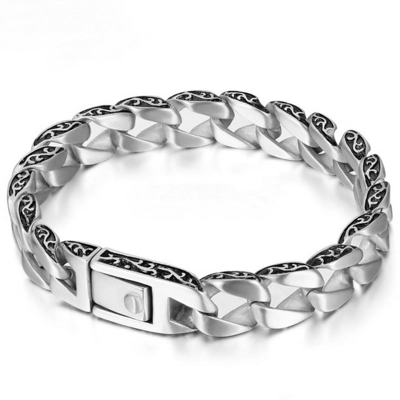 Boho Chic 100% Real 925 Sterling Silver men bracelet - BOHOCHIC