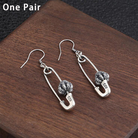 Boho Chic African Long Drop Earring 100% Real 925 Sterling Silver Fine Jewelry  Pin Dangle Earring - BOHOCHIC