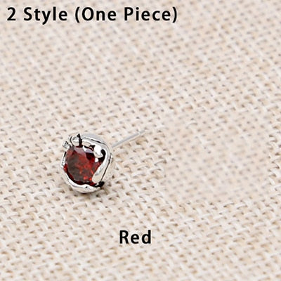 Boho Chic 4 Styles Ladies Earring 100% Real 925 Sterling Silver Fine Jewelry  Mosaic stone Stud - BOHOCHIC