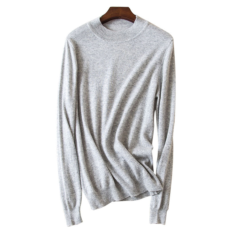 Boho Chic 100% cashmere High O-neck Collar Sweater - BOHOCHIC