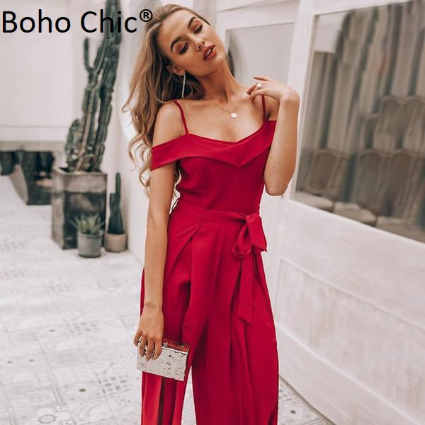 Boho Chic Sexy off shoulder women jumpsuit romper - BOHOCHIC