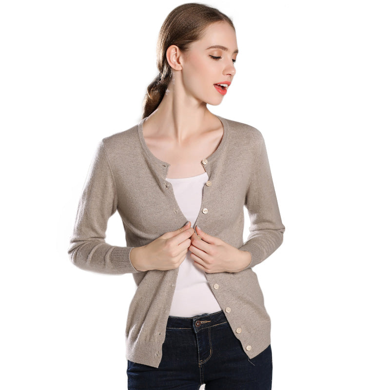 Boho Chic 100% Cashmere Fall Winter Cardigan Basic Style - BOHOCHIC