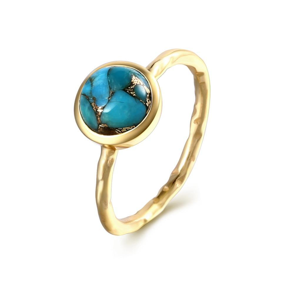 Boho Chic turquoise rings handmade 925 sterling silver - BOHOCHIC