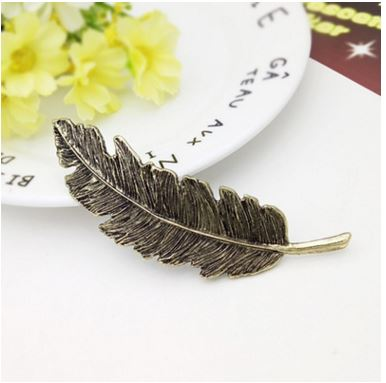 Boho Chic Metal Leaf Shape Hair Clip Barrettes - BOHOCHIC