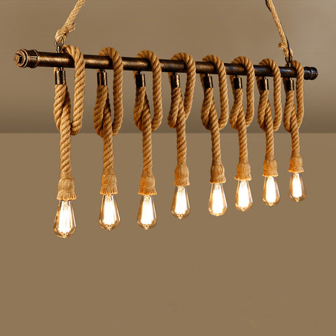 Boho Chic Rope Pendant Lights Lamp
