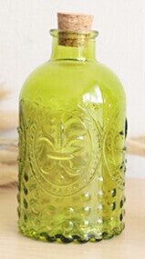 Boho Chic Vase Carved Cork Bottle Glass Bottle Tabletop Vase With Cork, Size:12.3 cm * 6.5 cm - BOHOCHIC