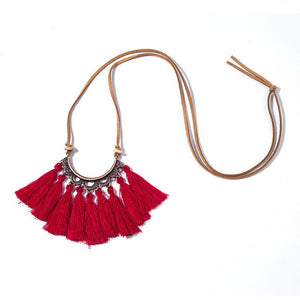 Boho chic tassel necklace - BOHOCHIC