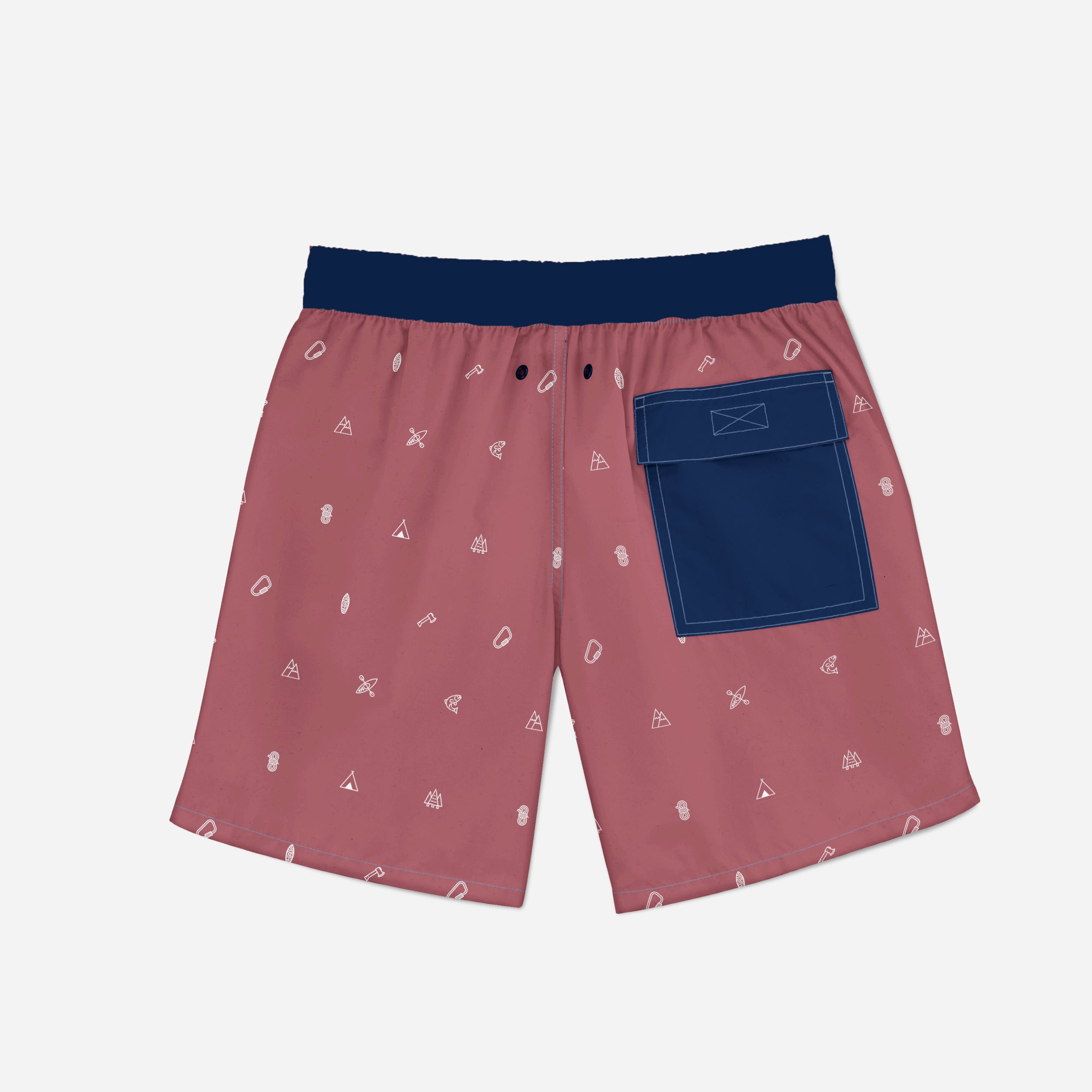 Camp Collage Shorts Swim/Hike