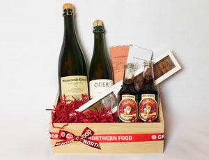 Dinner Drinks & Chocolates Gift Basket