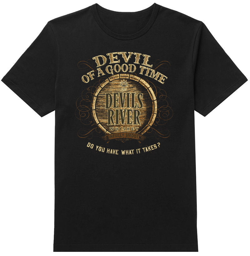 Devil Of A Good Time Tee - Devils River Whiskey
