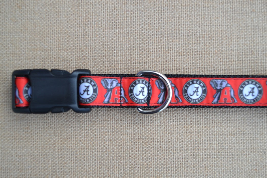 dog collar university of alabama crimson tide