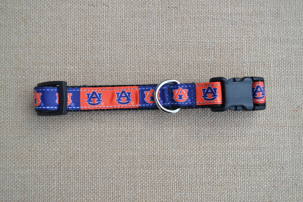 dog collar auburn tigers small