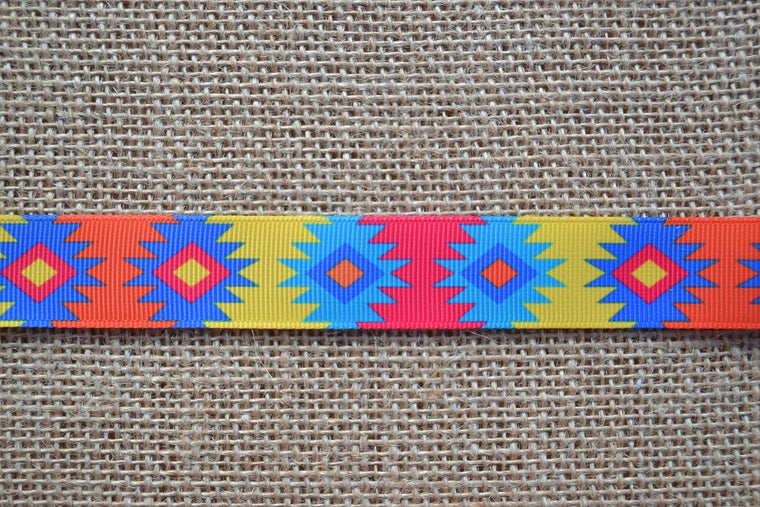 dog collar aztec southwestern turquoise native american