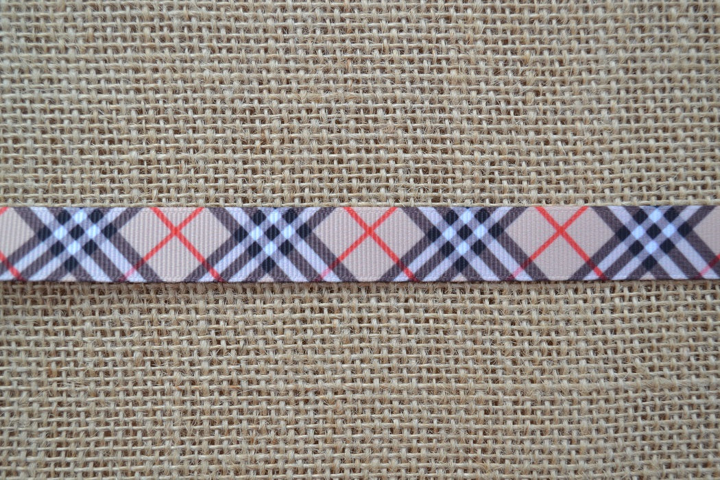 dog collar burberry plaid small