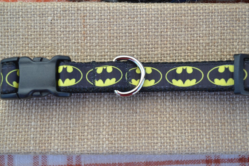 batman dc comics superhero dog collar