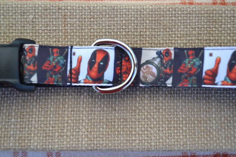 dog collar deadpool superhero marvel