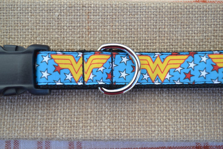 wonder woman dc comics superhero dog collar