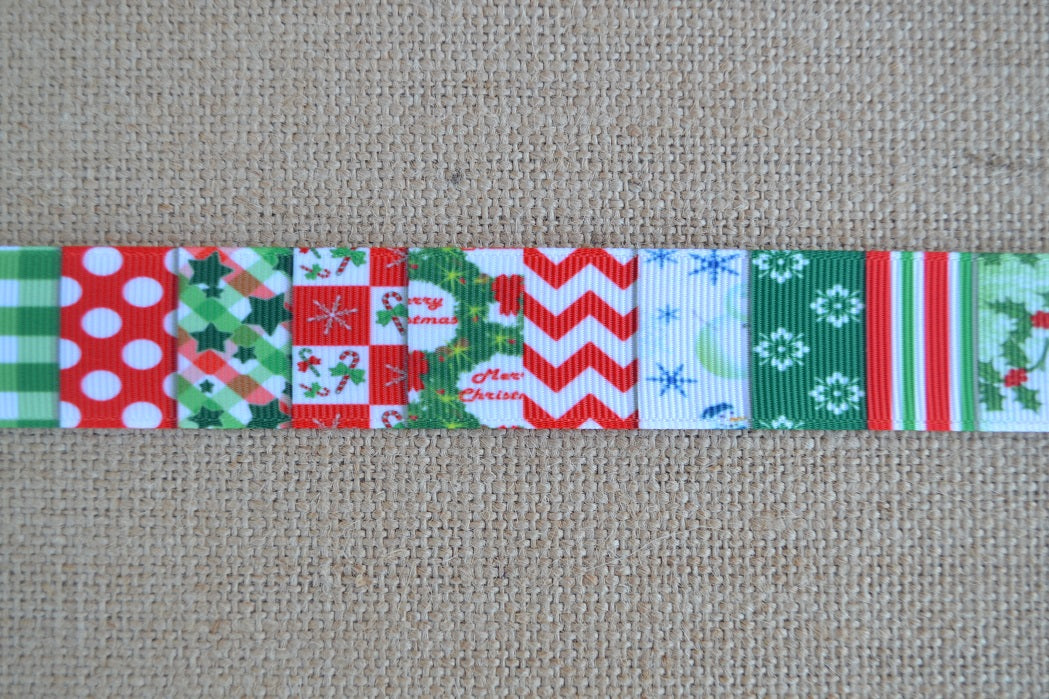 dog collar christmas patchwork colorful