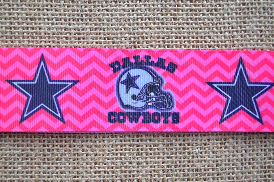 dog collar dallas cowboys pink girly xl
