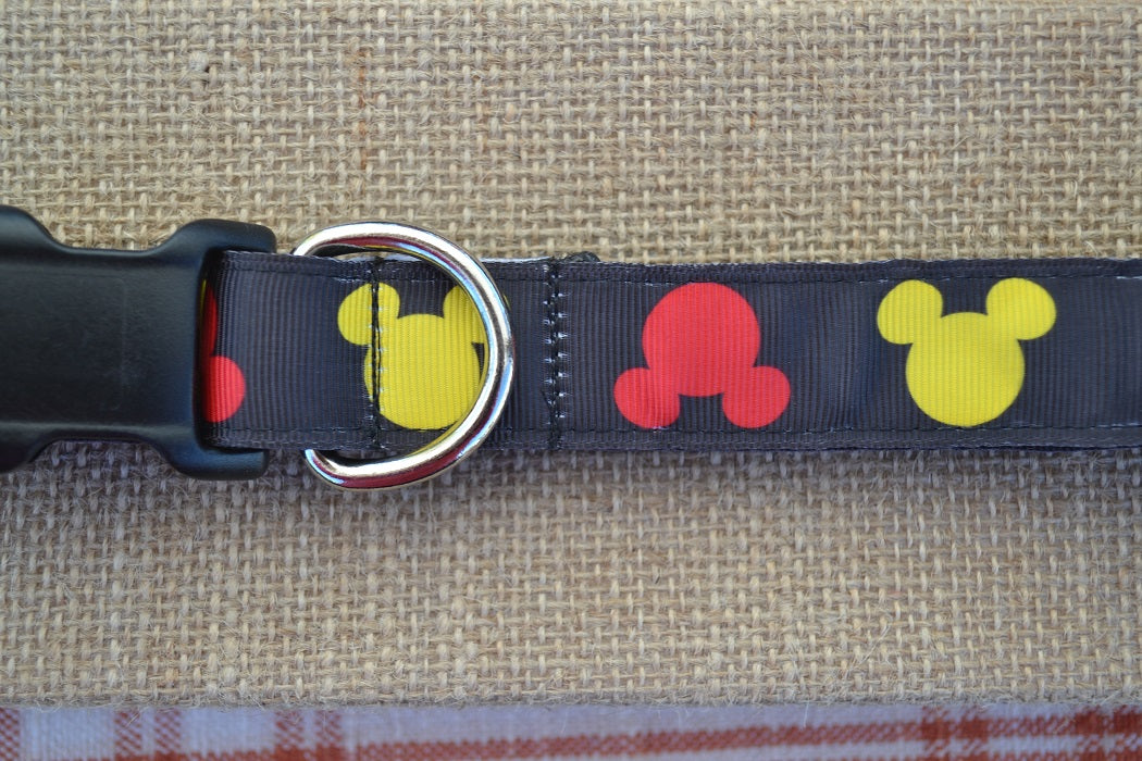 mickey mouse disney dog collar
