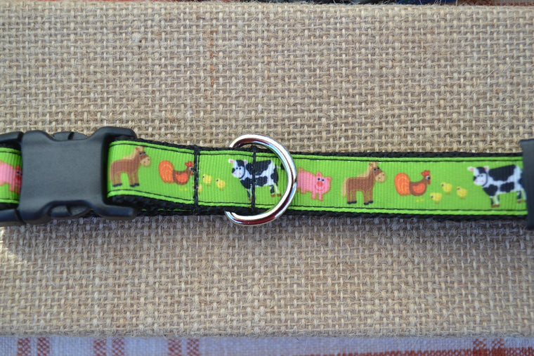 dog collar barnyard animals horse cow pig