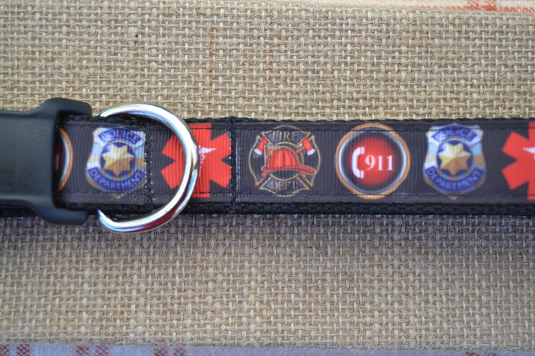dog collar first responder police fireman dispatch