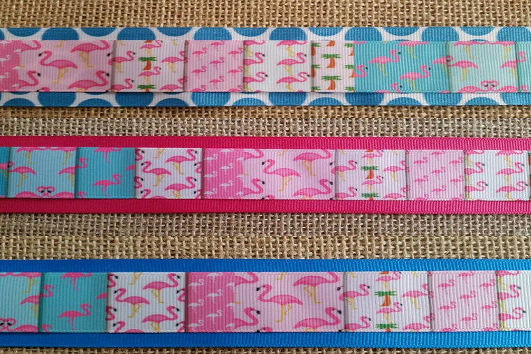dog collar flamingo pink xl