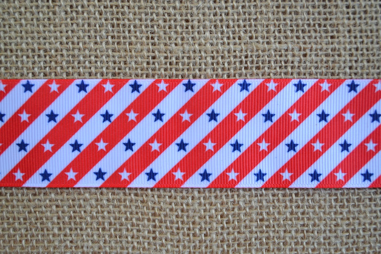 dog collar usa patriotic stars stripes red white blue xl