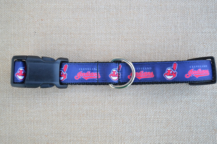"1"" wide Cleveland Indians Dog Collar"