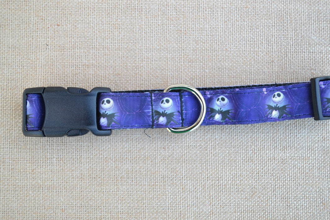 dog collar jack skellington purple