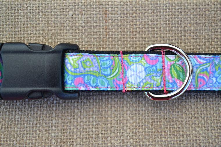 lilly pulitzer dog collar conch republic