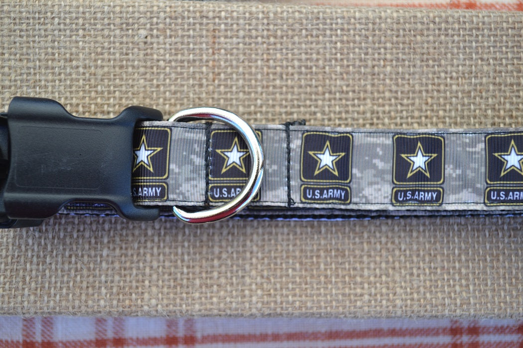 dog collar united states army foliage