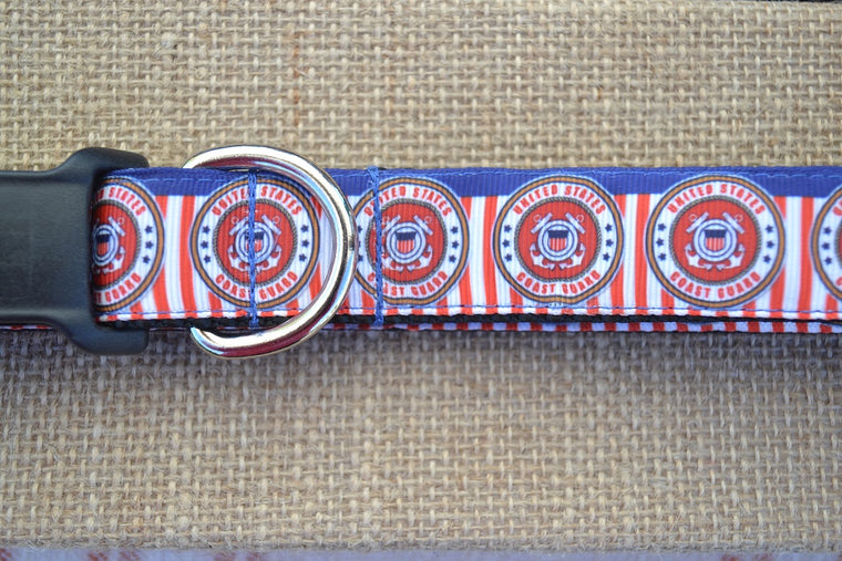 us military coast guard dog collar