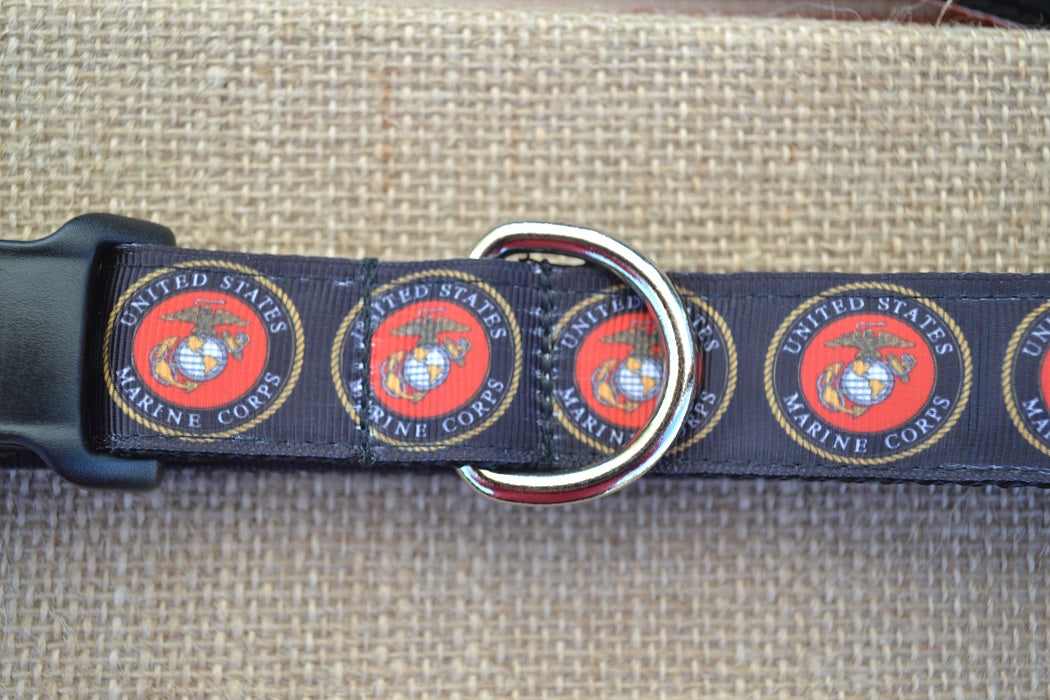 USA military USMC marines dog collar