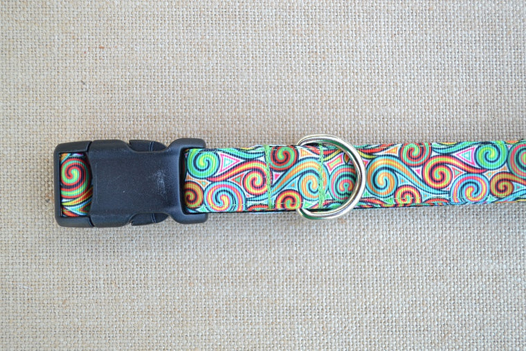 dog collar color swirl