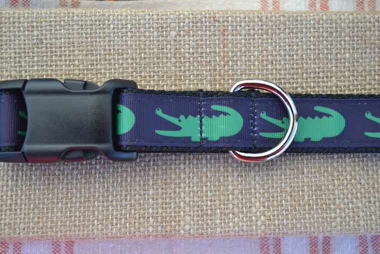 Preppy Alligator Dog Collar